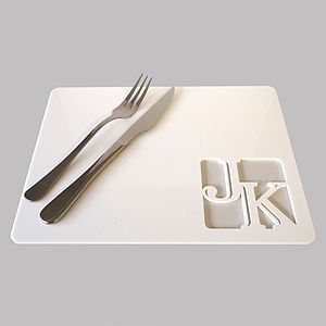 Personalised Acrylic Placemat - dining room