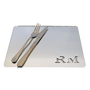 Personalised Initial Acrylic Placemat
