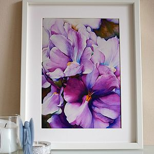 Fine Art Giclee Print Of Violet Flowers
