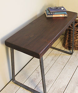 Industrial Flat Steel And Wood Bench - kitchen