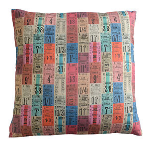 Tickets Cushion