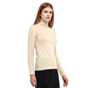 Pure Cashmere Roll Neck Top