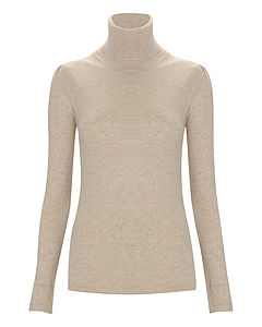 Pure Cashmere Roll Neck Valentine's Gift For Her