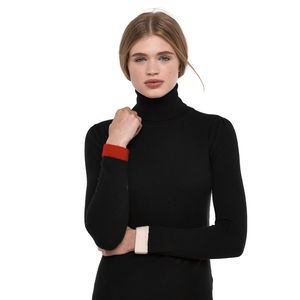 Black Cashmere Jumper By Ronit Zilkha - layer up