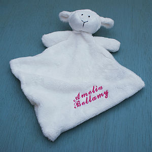 Personalised Baby Girl Lamb Comforter Blanket - blankets, comforters & throws