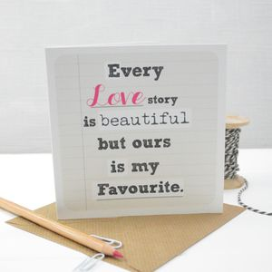 'Every Love Story' Valentines Card