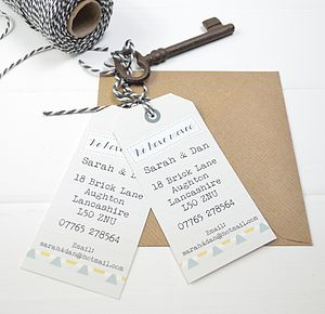 10 Personalised New Address Announcement Tags