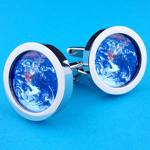 Planet Earth From Space Cufflinks