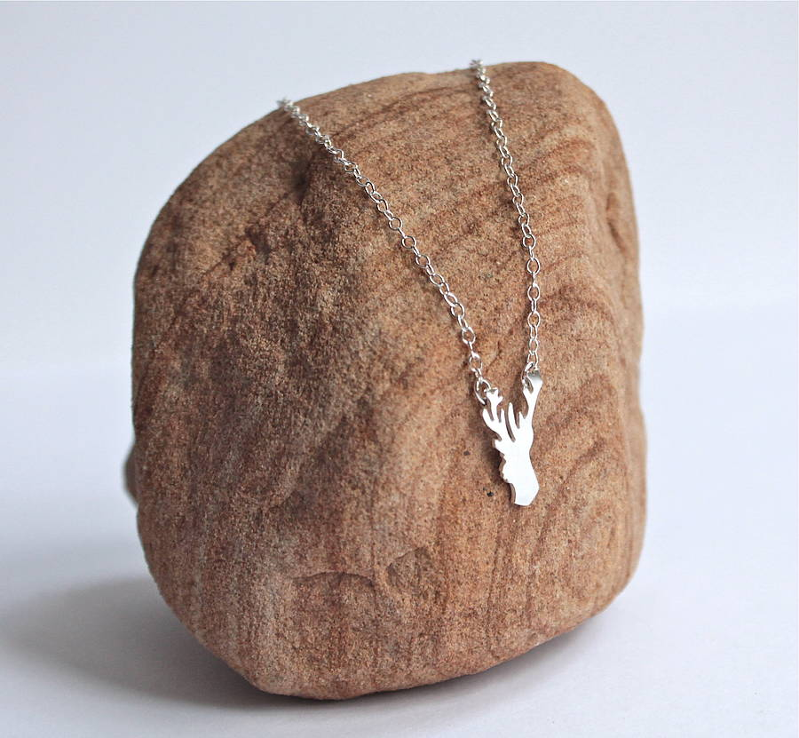 Tiny Stag Necklace