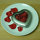 Personalised Heart Shaped Tin Of Rose Petals