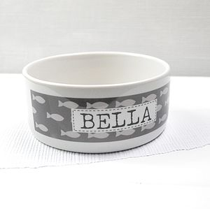 Personalised Pet Bowl - cats