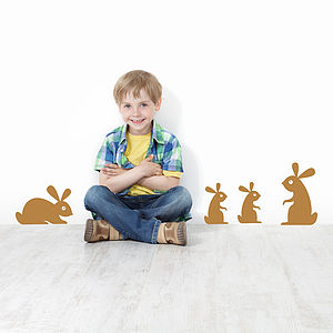 Children's Woodland Rabbit Wall Stickers - easter decorations