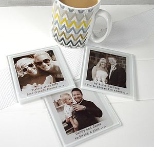 Personalised Glass Photograph Coaster - placemats & coasters