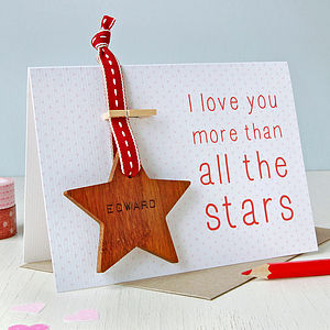 Personalised 'More Than The Stars' Token Card - wedding, engagement & anniversary cards