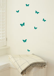 Set Of Mini Butterfly Stickers - wall stickers