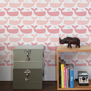 Whales Wallpaper - children's room accessories