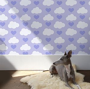 Loveclouds Wallpaper - children's room