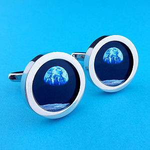 Earthrise From Space Cufflinks