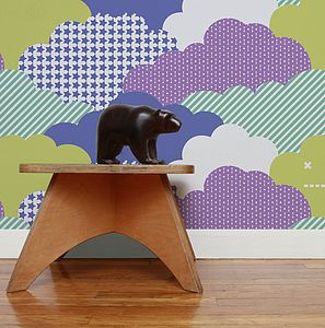 Clouds Wallpaper - children's room