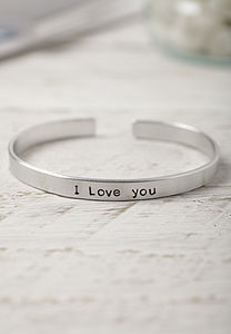 Hand Stamped Love Phrase Bracelet - men's jewellery
