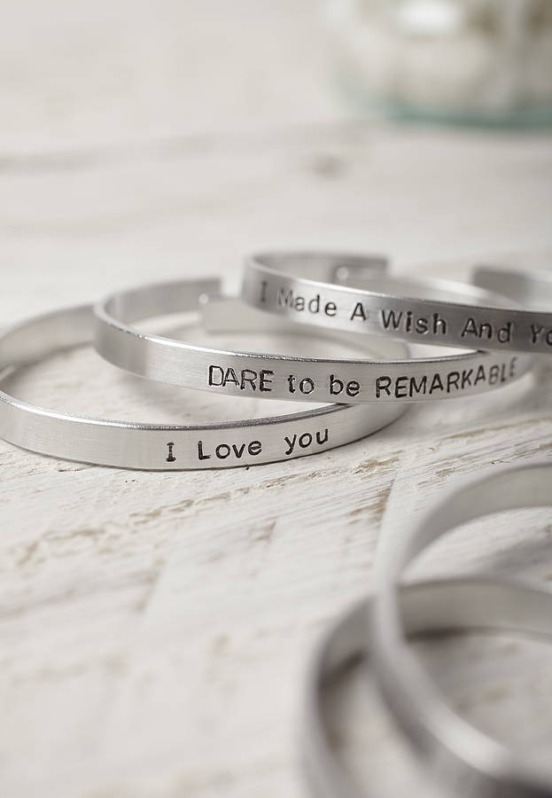hand life your in bangles bangle women from bracelet item stainless steel new mantra cuff for jewelry stamped engraved create open