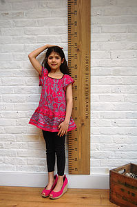 'Mum Rules' Giant Personalised Ruler Height Chart