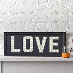 'Love' Letter Light Print