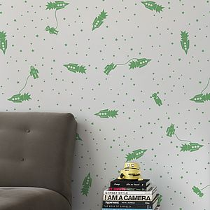 Astrobots Wallpaper - children's decorative accessories
