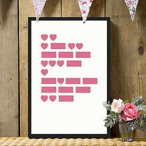 'I Love You' Morse Code Print - pictures & prints for children