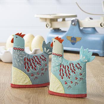Fabric Chicken Egg Cosy