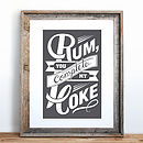 'Rum You Complete My Coke' Print