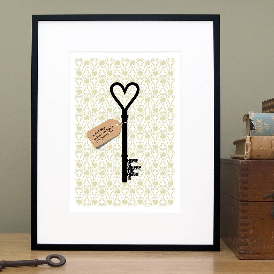 Home Design Gift Ideas: Personalised 'home Is Where…' New Home Gift Print By