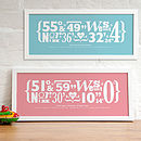 Personalised New Baby Coordinates Print