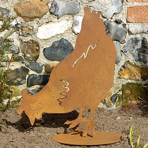 Rusty Pecking Chicken - easter decorations