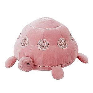 Pink Velvet Turtle Shaped Pouf - baby & child sale