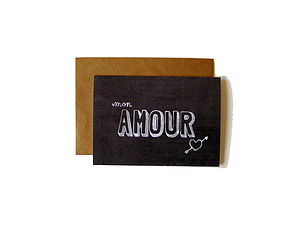 'Mon Amour' Chalkboard Card - sentimental cards