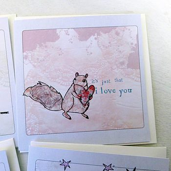 'Little notes of love' cards - Squirrel design