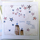 'Little notes of love' cards - Two owls design