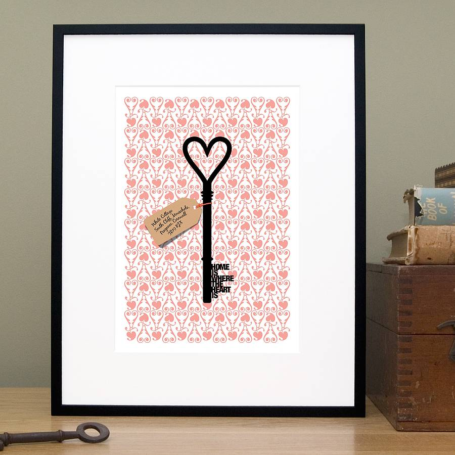 Personalised 39 Home Is Where 39 New Home Gift Print By