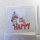'Little notes of love' cards - Mole design