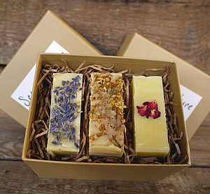 Gift Box Of Three Or Four Handmade Soaps - beauty & pampering
