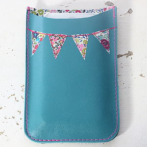 Personalised Leather Bunting Phone Cover - phone & tablet covers & cases