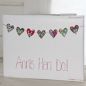 Personalised Hen Party Journal - table decorations