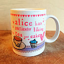 Personalised Tea And Cake Mug