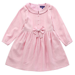 Girl's Kate's Candy Pink Bow Detail Dress