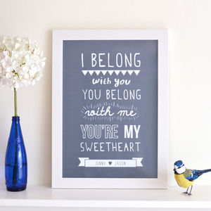 Personalised Lumineers Print - gifts for him
