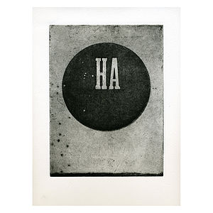 'Ha' Etching Print - contemporary art