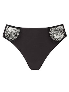 Organic Knickers With French Lace - women's fashion