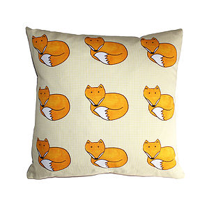 Fox Cushion - decorative accessories