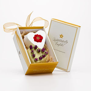 Rose Heart Soap And Bath Bomb Gift Box - bath & body